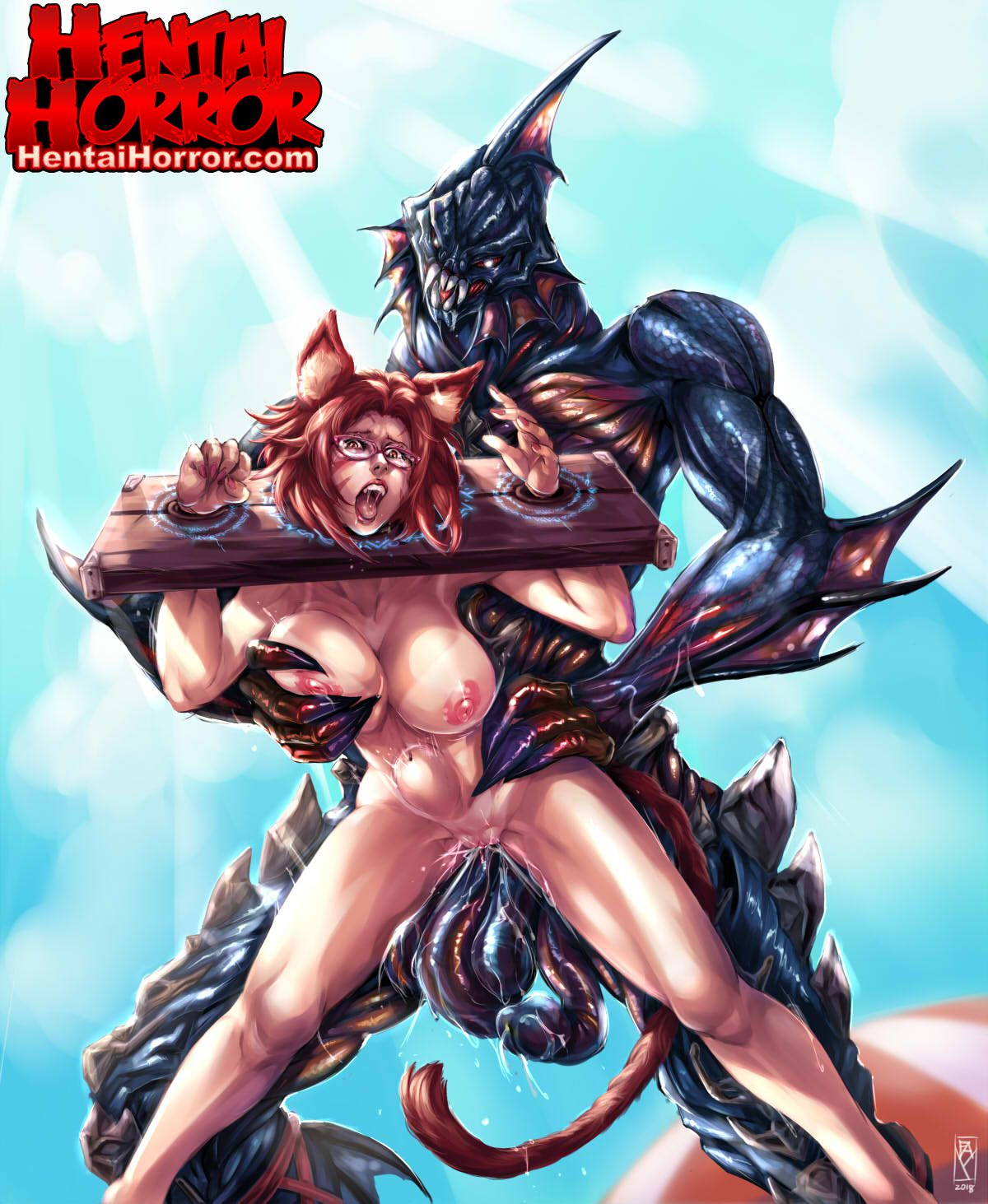 hentai nekocatgirl monstercock demon cartoonporn